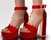 Red Heart Heels