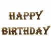 GOLD HAPPY BDAY SIGN