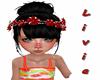 Tiara de flores vermelha