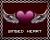 Heart With Wings Sticker