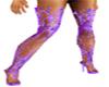 purple fairy boots
