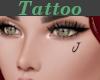 Tattoo Left Cheek J