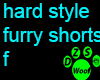 hsf shorts teal f