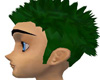 Spiked Green hair