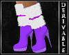 ~D~ Jeweled Fur Boots