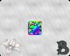 ~B~ Rainbow Frog Badge