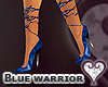 [wwg] Blue warrior pumps