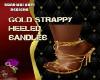 DM:GOLD STRAPPY HEELS