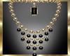 Gold/Black Necklace