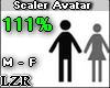 Scaler Avatar M - F 111%