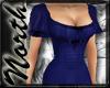 NE~ Blue flutter gown