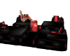 Red & Black Fire couch