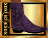 [L] Deep Purple Boots M