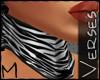 -V- [M] Choker Zebra