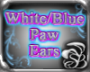 White / Blue PAW Ears