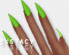 Kylie Nails. Neon Green
