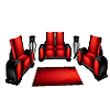 Black N Red Cuddle Sofa