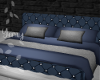 Padded Gray & Blue Bed