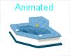 BLUE TILED CONER BATHTUB