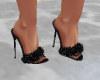 black sparklie heel
