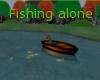 fishing alone sticker