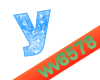 The letter Y (Blue)