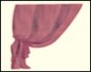 Left purple curtain