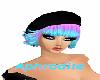 Hat black & Hair bicolor