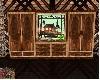 wood cabin dresser