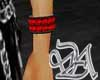 red and black wristband