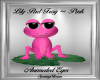Lily Pad Frog ~ Pink