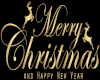 CHRISTMAS SIGN IN GOLD