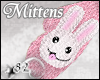 *82 Bunny Mittens Pink