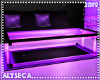 Neon table purple