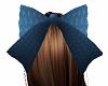 Blue Hair Bow