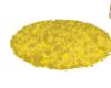 yellow round furry rug