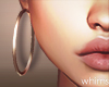 E Gold Hoops Earrings