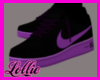 Purple and black Kicks