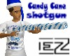 Candy Cane SHOTGUN blue