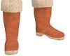 brown fur boot