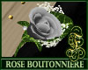 Boutonniere Rose Silver