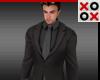 Black on Gray Suit