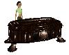 Victorian Wood Coffin
