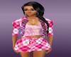 pink schots dress