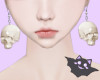 ☽ Earrings Skull