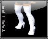 White Thigh Boots W/Stud