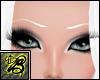 [B] Thin White Eyebrows