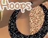 Black Glitta Hoops