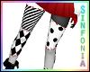 B/W Patchwork Stockings