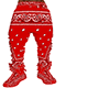 RED BANDANA BAGGY PANTS
